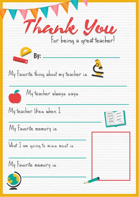 printable thank you card from teacher to student thank you teacher a free printable stay at home mum