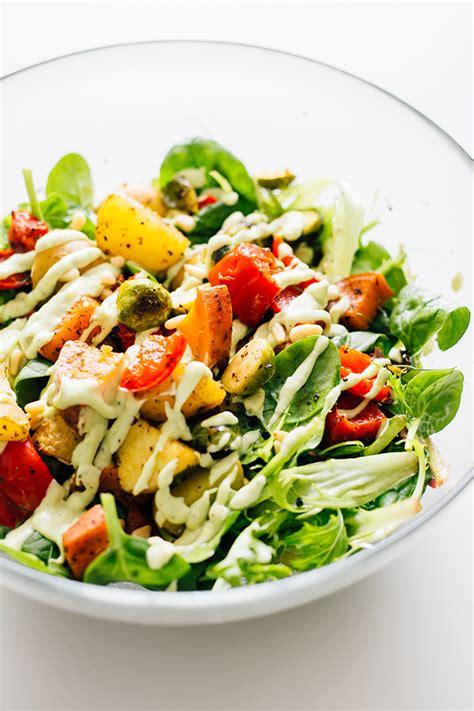 vegetables or salad vegetable salad dressing