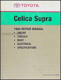 1984 toyota celica supra repair shop manual factory reprint