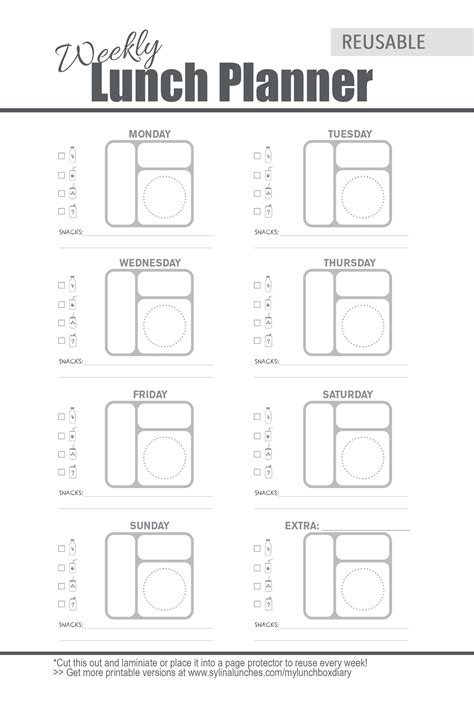lunch box planner template weekly meal planner template for bento lunch box planning