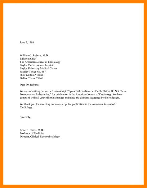 Response Letter For Manuscript 8 Letter Of Resumed