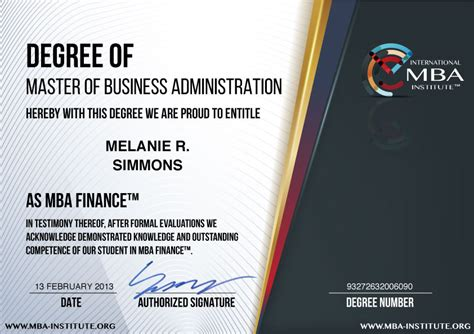 Certifications For Mba Finance Students by What Is Usd 597 Mba Finance Degree Program
