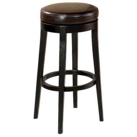 backless brown leather counter stools brown leather 26 quot high backless swivel counter stool