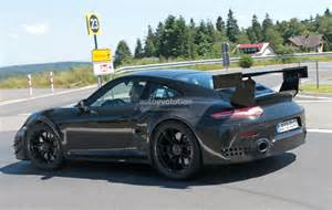 Porsche News New Porsche 911 Gt2 Gt2 Rs Spied With Racecar Aero Expect
