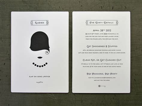 Speakeasy Party Invitation Oxsvitation Com Speakeasy Invitation Template Free