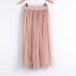 high waisted pleated midi tulle skirt on luulla