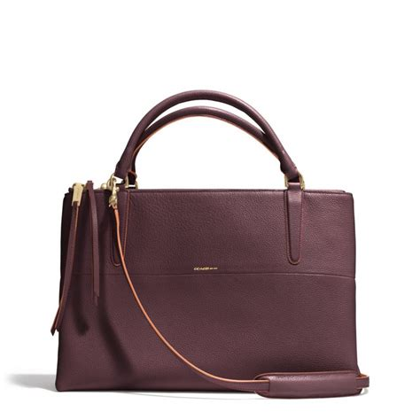 Coach Borough Floral lyst coach borough bag in edgepaint pebbled leather in purple