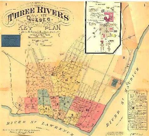 carte geographique de la ville de trois rivieres