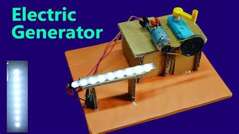 how to make a electric power generator at home free