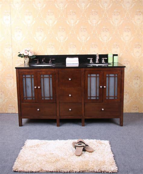 61 inch bathroom vanity 61 inch dark walnut double sink bathroom vanity with