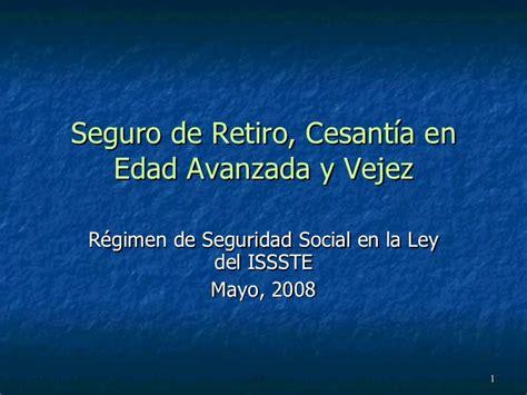 imss pensiones jubilacion y retiro seguro social 04 seguro de retiro cesant 237 a en edad avanzada y vejez