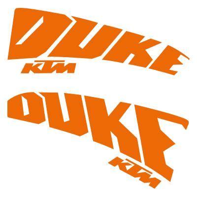 Ktm Schriftzug Aufkleber by Ktm Duke Aufkleber Irace Design