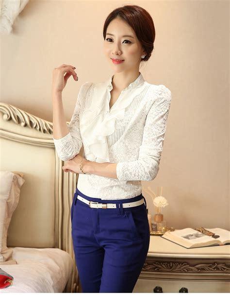 Blouse Mote Panjang v neck korea blouse import bl3075 white tamochi
