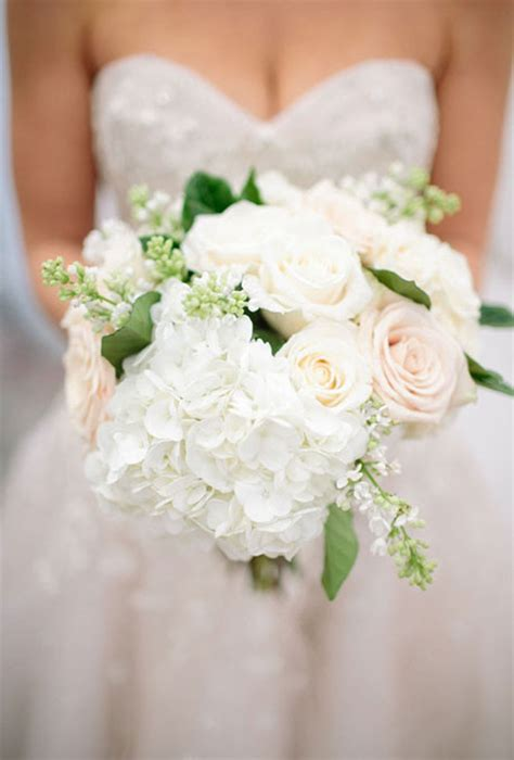 hydrangea wedding bouquets greenery hydrangea and