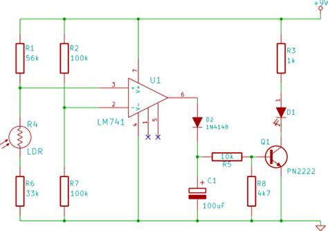 automatic light switch circuit diagram automatic free