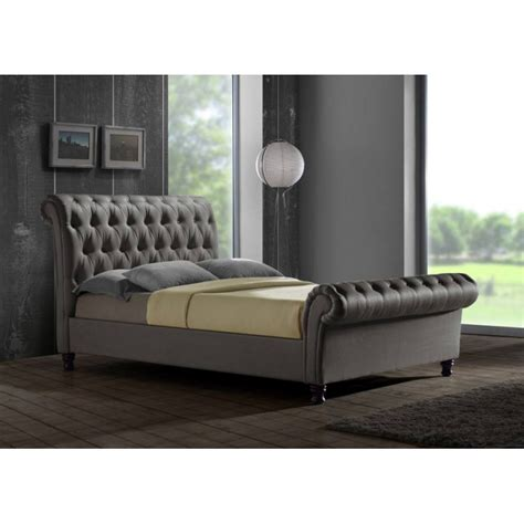 gray king bed grian furnishers castello grey king size bed frame