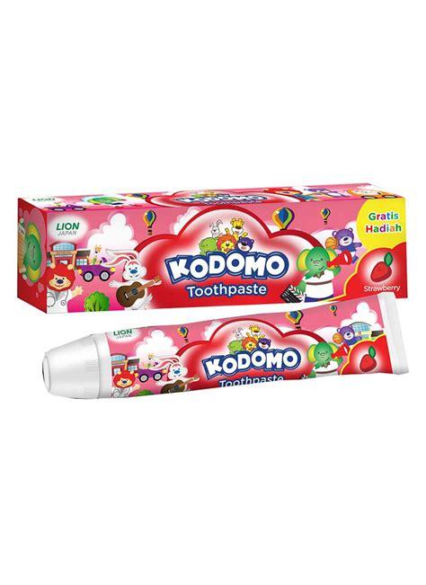 kodomo pasta gigi anak anak strawberry tub 45g klikindomaret