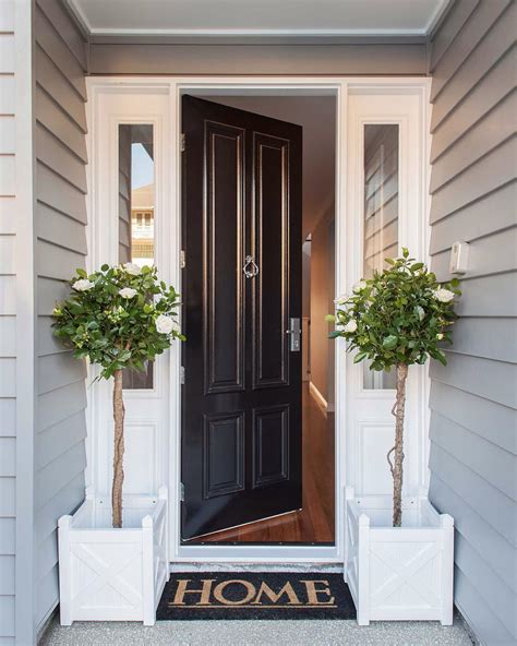 decorating the entrance to your home welcome home to this classic htons style front entrance