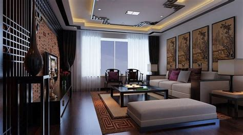 modern chinese interior design chinese classical and modern style living room