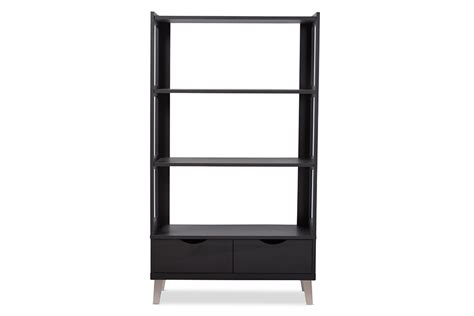 espresso brown leaning bookcase bookshelf 28 images
