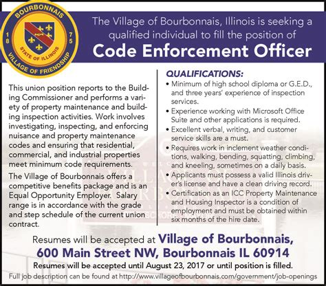 Officer Code by Of Bourbonnais