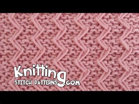 zig zag loop knitting pattern zig zag fixed loop in garter stitch youtube