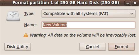 format external hard drive kubuntu ubuntu format external usb disk