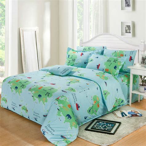 world map bedding aliexpress com buy bedding sets 4pcs duvet cover sets