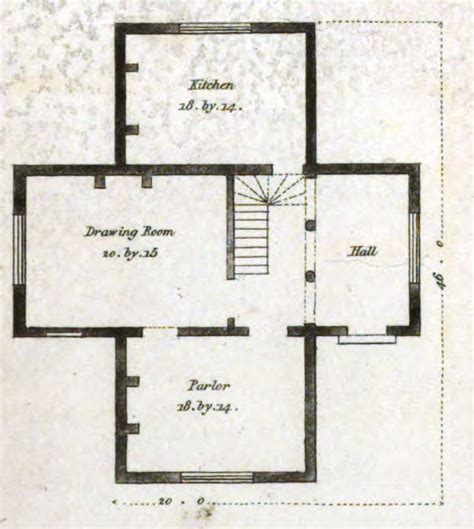 housr plans 19th century historical tidbits 1835 house plans part 2