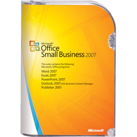 Microsoft Office Small Business by Excel 2007 Outlook 2007 Mit Bussines Contact Manager