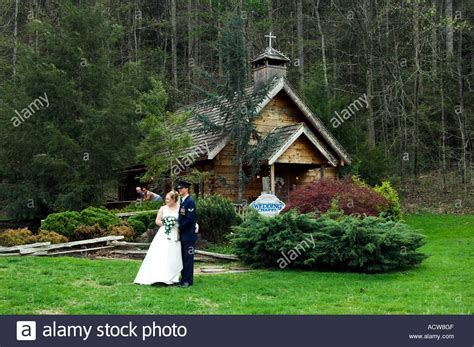 The Little Log Wedding Chapel in Gatlinburg Tennessee USA