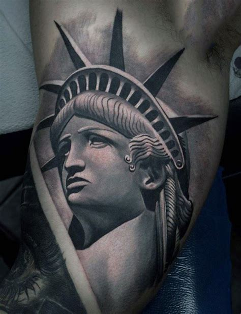 lady liberty tattoo 10 powerful statue of liberty tattoos