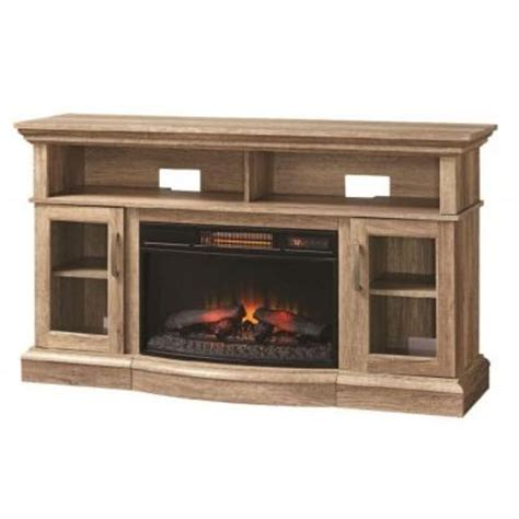 Home Depot Electric Fireplace Tv Stand by Home Decorators Collection Hawkings Point 59 5 In Rustic Media Console Electric Fireplace In