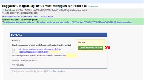 cara membuat facebook menggunakan email cara daftar membuat akun facebook dengan mudah kumpulan