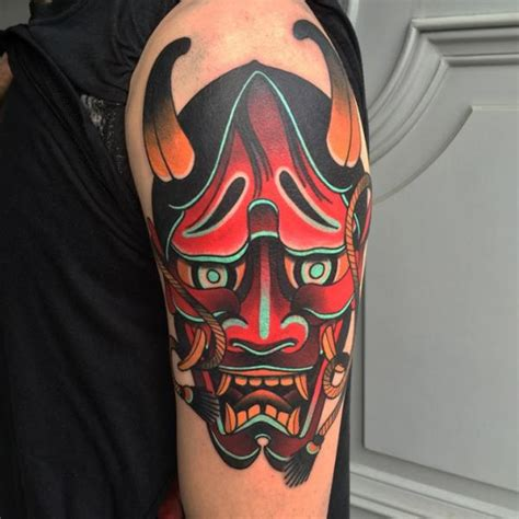 old school japanese tattoo style old school japanese mask demon tattoo by sorry mom