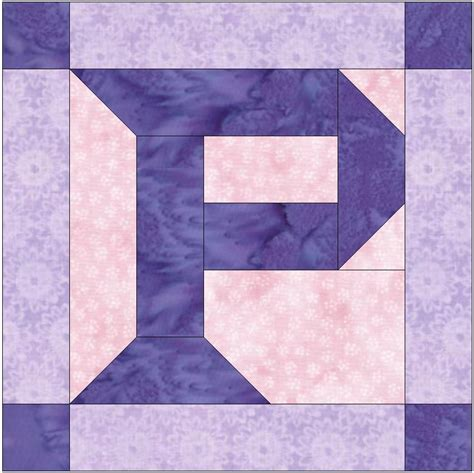 paper pattern blocks foundation pieced letter p paper piece quilting block