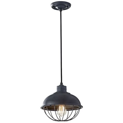 Retro Style Mini Pendant Light With Bulb Cage Shade Caged Pendant Light