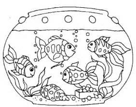 various fish inside fish tank coloring page netart