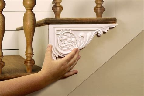 Kitchen Molding Ideas dress up your stairs with decorative stair brackets