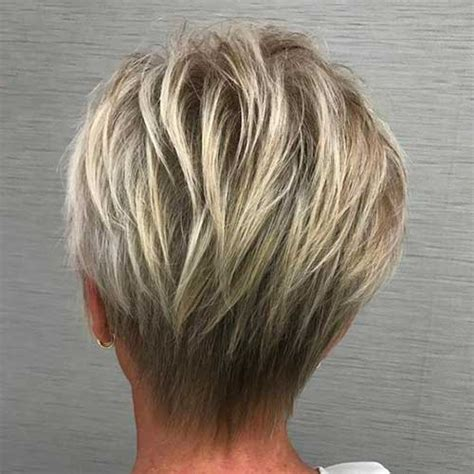 show the back of some modern womens medium length haircuts stunning short layered hairstyles for ladies trending in