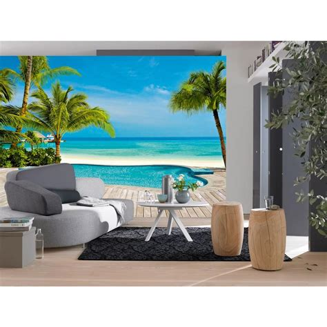 home depot wall murals ideal decor 100 in x 144 in pool wall mural dm127 the home depot