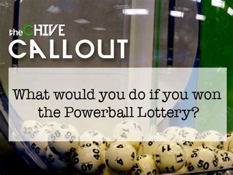 Do You Win Money If You Win The Olympics - what people would do if they won the powerball lottery