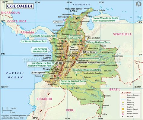 map of columbia zen 250 gold museum in cartagena colombia travel to eat