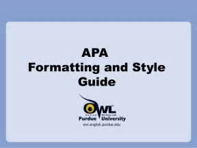 apa style presentation