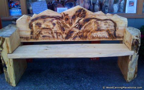 chainsaw bench carving wood carving works photo gallery 4 wood carving macedonia chainsaw carving