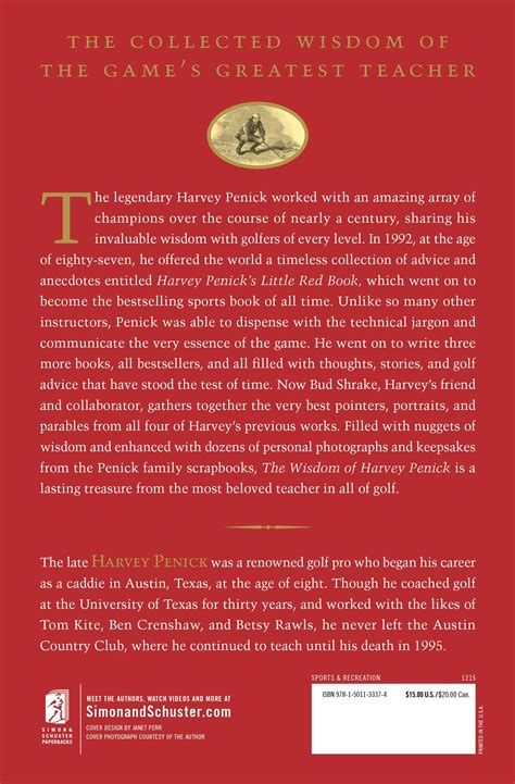 harvey penick the and wisdom of the who wrote the book on golf books the wisdom of harvey penick book by harvey penick bud