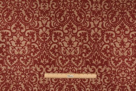Tapestry Upholstery Fabrics by 4 Yards Beacon Hill Lyons Flora Chenille Tapestry Upholstery Fabric In Rhubarb