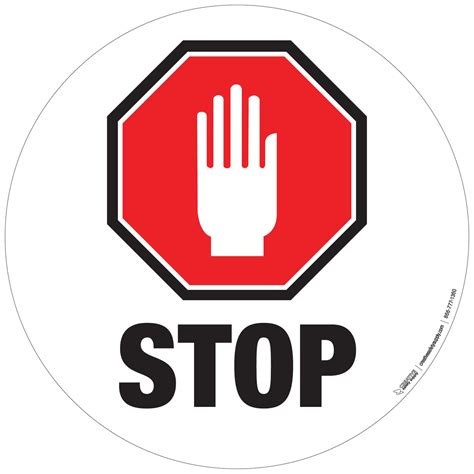 Stop With The by Stop Sign With Floor Signs Creative Safety Supply