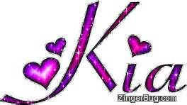 What Does The Name Kia Kia Pink And Purple Glitter Name Glitter Graphic Greeting