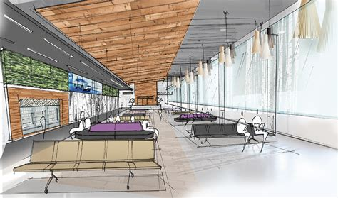 layout of airport building expanding an airport portland design